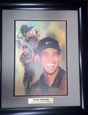 TIGER WOODS SIGNED FRAMED LITHOGRAPH PRINT 16X20