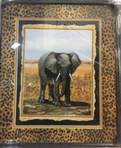 Elephant Safari Print Framed Matted IN 20x24