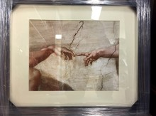 The Creation of Man BY Michelangelo Buoarroti Framed in 16x20