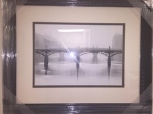 Ponts des Art, Paris by Michael Kenna Framed Print in 24x28